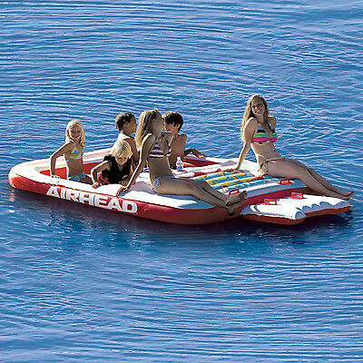 Airhead Cool Island Towable Ski Tube Inflatable Biscuit Boat Ride