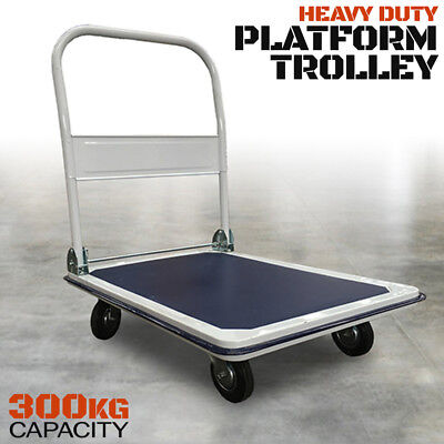 300kg Folding Platform Trolley - Industrial Quality Foldable Hand Truck Cart NEW