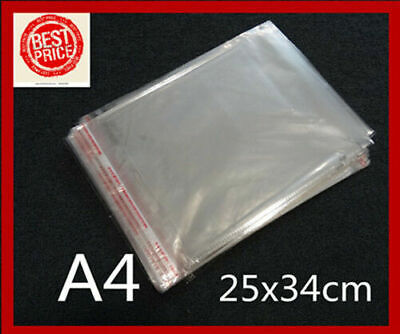 200 40x50mm Clear Self Adhesive Seal Plastic Gift Packaging Cellophane Bags