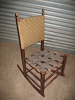 Rare old antique American Shaker rocking chair No 3 complete with label