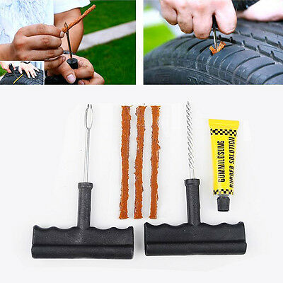 Utility 6Pc Auto Car Tubeless Tyre Puncture Plug Tire Repair Cement Tool Kit