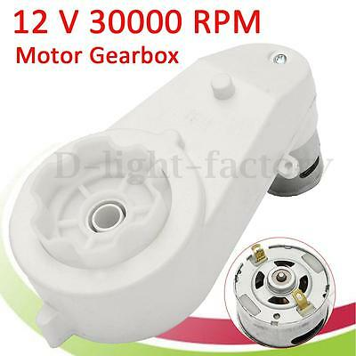 12V Electric Motor Gear Box 30000RPM For Kids Ride On Car Bike Toys Spare Parts