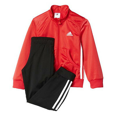 Adidas►Trendy Sportanzug Trainingsanzug Girls►Joy Rot Schwarz►116 - 140►Neu