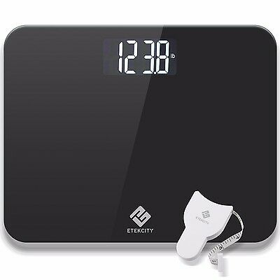 Etekcity Digital Body Weight Bathroom Scale With Extra Large LCD Display, 440lb