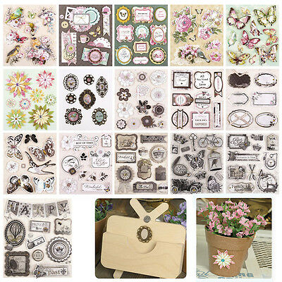 3D Adhesive Stickers Scrapbooking Photo Diary Wedding Deocr Craft Embellishments