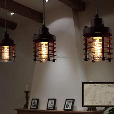 Variou Retro Industrial Metal Hanging Ceiling Light Lamp Shade E27 Wired Pendant