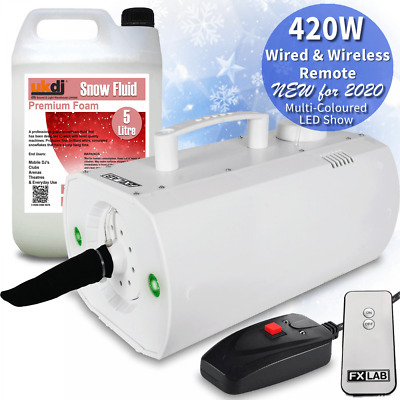QTX/FX Lab Compact Snow Machine 600w Party Snowflake + Fluid & FREE Bag DJ Party