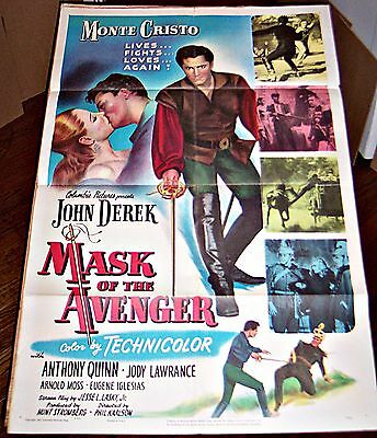 Mask Of The Avenger (1951) John Derek * Anthony Quinn Original 27X41 1-Sheet