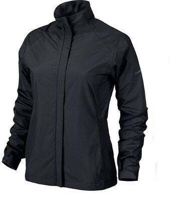NEW Lady Nike Storm-Fit Packable Rain / Wind Jacket Black - Choose Size!