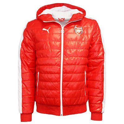 22a69785c06b Puma AFC Arsenal T7 Mens Hooded Full Zip Red Padded Jacket 746372 01 P4D