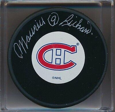 Autographed Maurice Richard Montreal Canadiens Puck