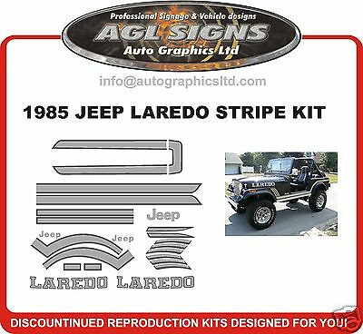 1985 JEEP LAREDO STRIPE KIT  CJ7  reproduction sticker graphics