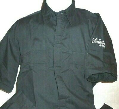 BALLANTINES WHISKY Chemise noire homme manches amovibles taille L neuf