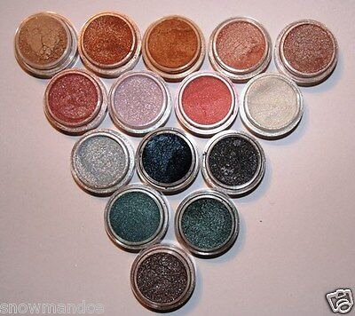 Mineral Makeup~5~Bare~Loose Powder~Eyeshadow~Grey~Green~Copper~Purple Mica Pic 3