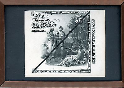 1870's $5 National Currency First Charter Laban Heath's Proof Right Half