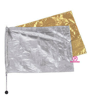 Eurotard Liturgical/Dance Metallic Flag ~ Gold or Silver ~ New ~ # 143-144