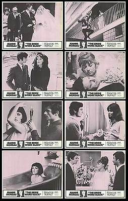 THE BRIDE WORE BLACK orig 1967 lobby card set JEANNE MOREAU 11x14 movie posters