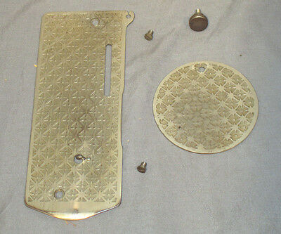 Antique 1899 Starburst Singer 27 VS2 Sewing Machine Cover Plates Front Rear Nose