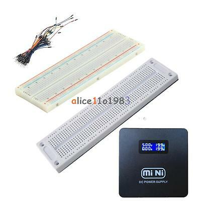 Prototype Breadboard 700/830 Tie-points MB102 SYB 120 Jumper Cables Wire New