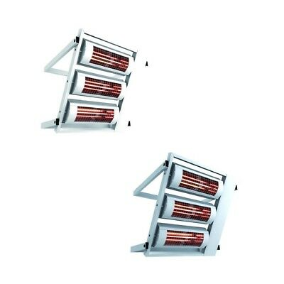 Heating Light solamagic 6000 Watt ECO IP24 with Wall Support in Two Colours