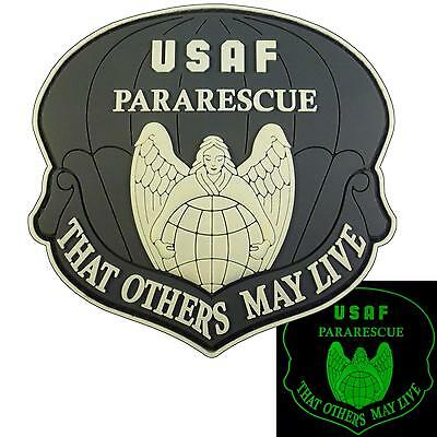THAT OTHERS MAY LIVE USAF pararescue PJ PVC glow dark 3D rubber hook patch