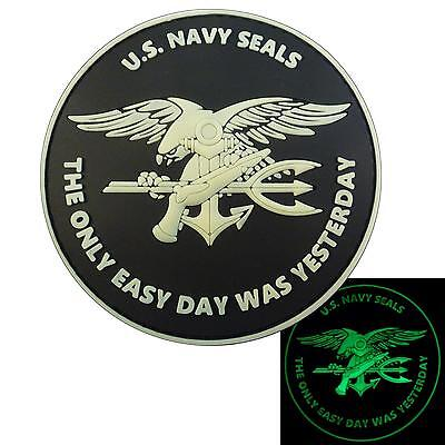 the only easy day PVC glow dark navy seals seal team morale hook patch