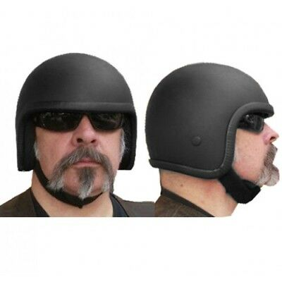 New Matt Black Fibreglass Open Face Lowrider Cannonball Novelty Helmet Xs - 3Xl