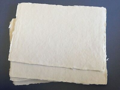 100% COTTON Rag Paper A5 Size x 25 Sheets 300gsm Deckle Edge
