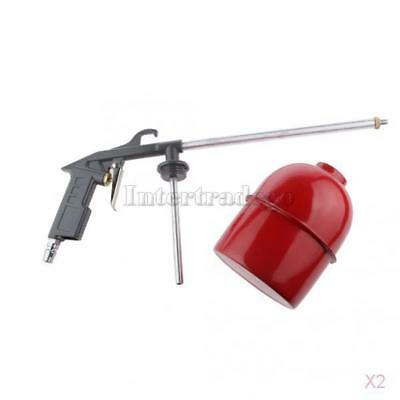 2x Air Engine Gun Cleaning Washer Kit Tool with 6 Siphon House Cleaner Gray