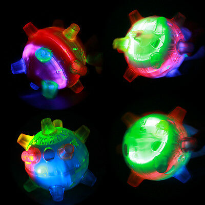 Jumping Joggle Bopper Flashing Light Up Bouncing Sound Kid Vibrating Toy Ball