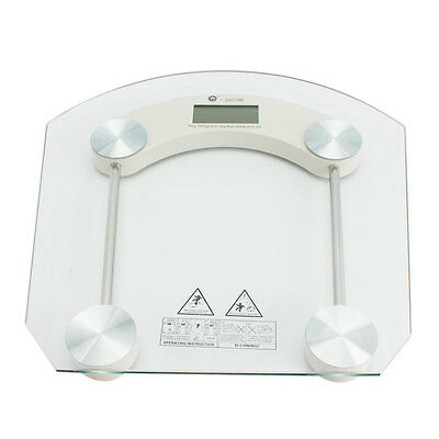 Digital Glass LCD Electronic Weight Body Bathroom Health Scale MAX 180KG/396LB