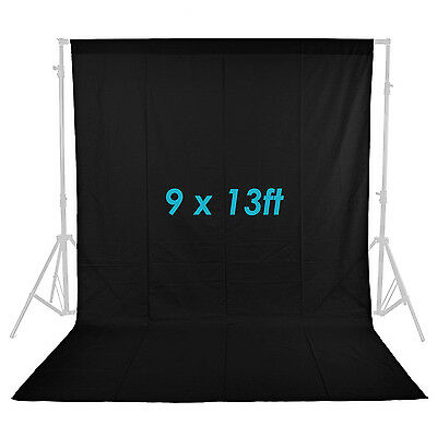 Neewer Black 9 x 13FT Photo Studio Muslin Collapsible Backdrop Background