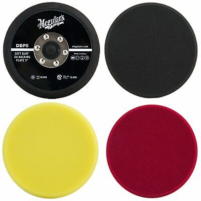 "Meguiar's 5"" Finishing / Polishing / Cutting Disc Pads & 5"" DA Backing Plate"