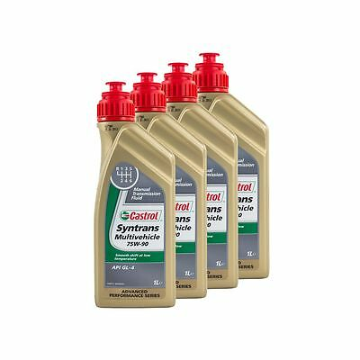 4 Litres Castrol Syntrans Multivehicle 75W90 API GL4 Fully Synthetic Gear Oil