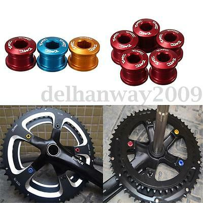 5pcs Bicycle Super Light Alloy Dental Plate Chain Ring Bolt Road MTB Disc Screw