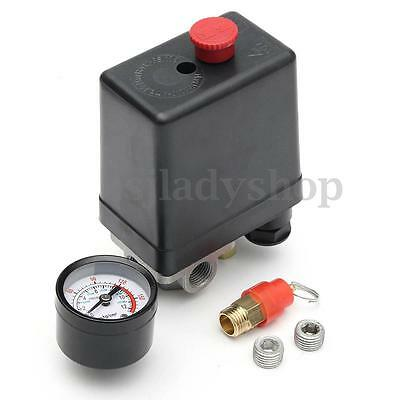 "1/4"" Single Phase Air Compressor Pressure Switch + Safety Value + Blanking Plugs"