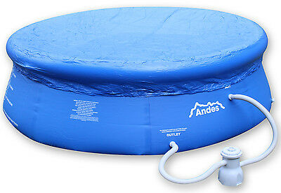 Andes Round Outdoor Garden Inflatable Swimming/Paddling Pool Cover