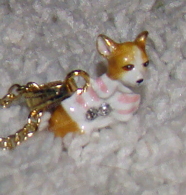 Chihuahua Bejeweled Baked Enamel Necklace (Pedigree Dog, 3306N)