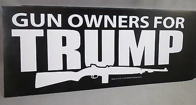 Wholesale Lot Of 20 Gun Owners For Trump President Stickers  2016 2Nd Amendment