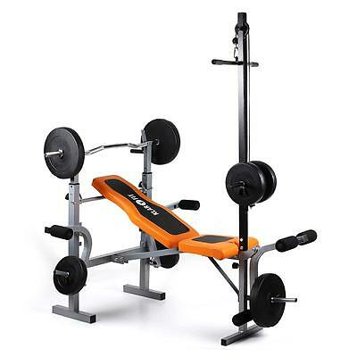 New Multi Gym Weight Bench Leg Curl Home Fitness Equipment Arm Strength Training