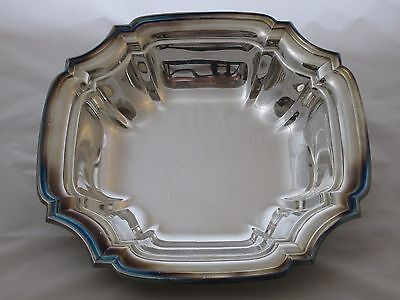 Lunt Silversmiths Shelburne S-30 Silver Plate Square Serving Bowl 10 X 10