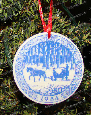 Royal Copenhagen, Dashing through the Snow (1984) Porcelain Christmas Ornament