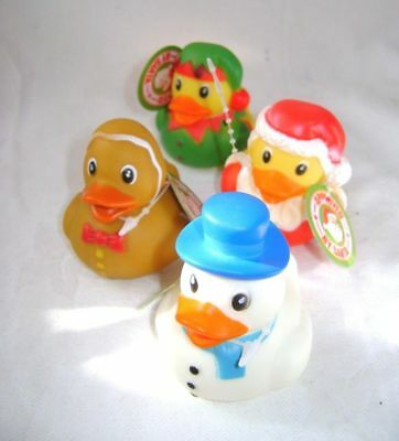 New Christmas Bath Rubber Ducks Duck Santa Elf Snowman Gingerbread Pw 396-114