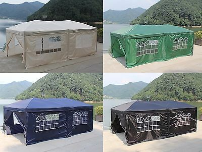Pop-up Waterproof Outdoor Garden Gazebo 6X3M Tent Marquee Canopy with Sides