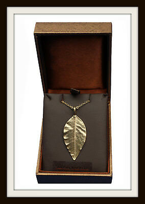 Pointed Leaf Bronze Pendant ~ Necklace ~ From St Justin ~ Free P&P ~ Made In Uk