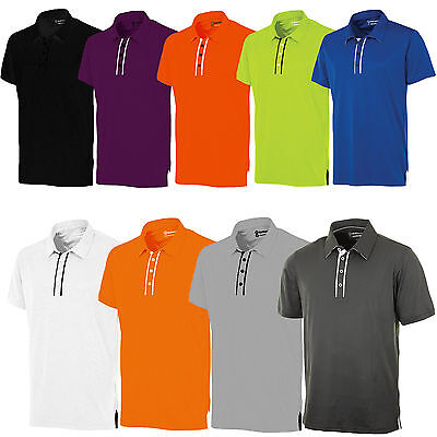 Sunice Silver Oakley Mens Performance Short Sleeve Golf Pique Polo Shirt Top