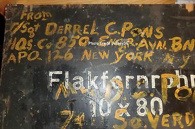 STENCIL WW2 GERMAN 10x80 Flak Binoculars Transit Case Flakfernrohr Transport