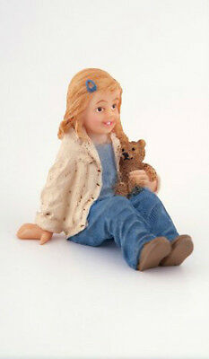 Dolls House Doll: Resin Figure of a sitting Little Girl  in 12th scale