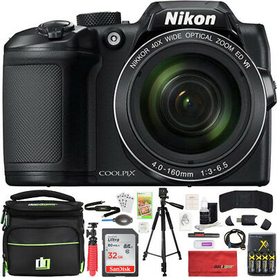 Nikon COOLPIX B500 40x Optical Zoom Digital Camera w/ Built-in Wi-Fi 32GB Bundle