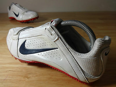 Womens running spikes size 6 Nike zoom rival s white leather track & field shoes
